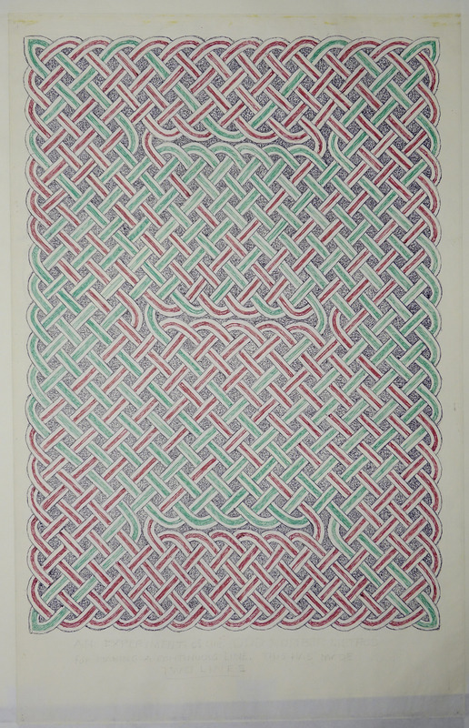 George Bain Drawing -Knot-work panel.