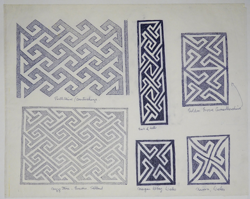 George Bain Drawing - Key Patterns.