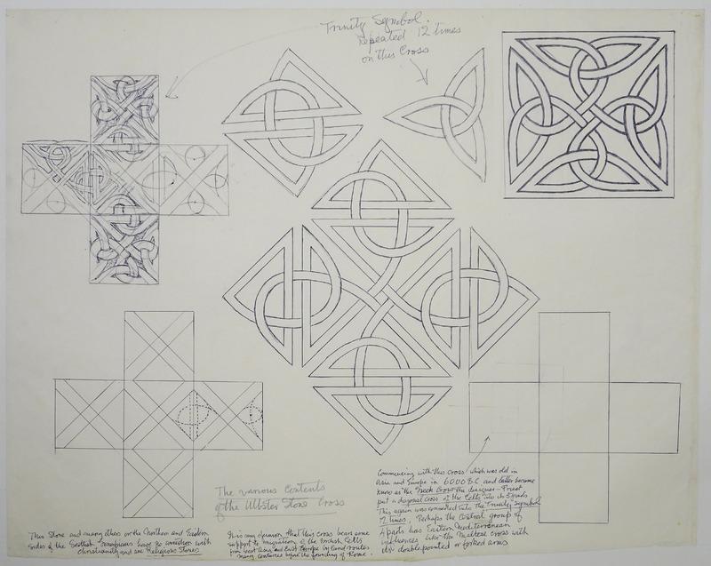 George Bain Drawing - Trinity Symbol.