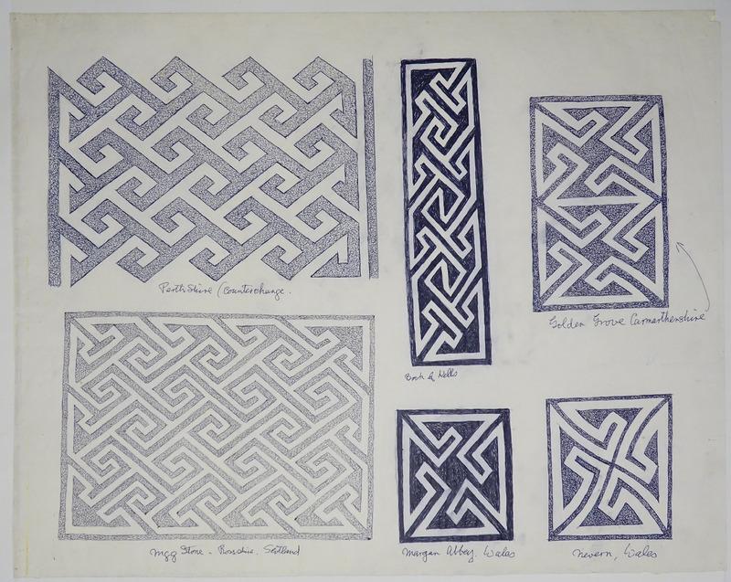 George Bain Drawing - Key Patterns.