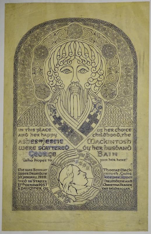 George Bain - commemorative memorial  plaque