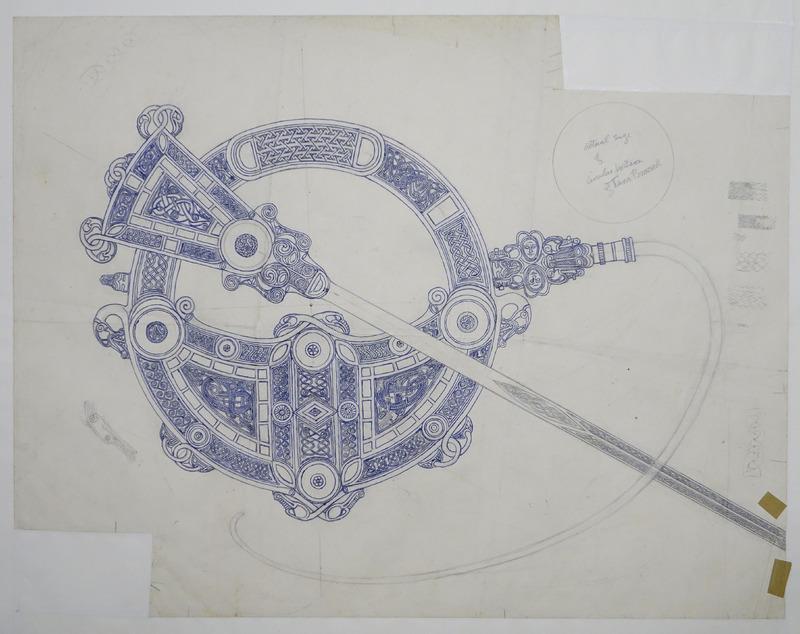 George Bain Drawing - Tara Brooch.