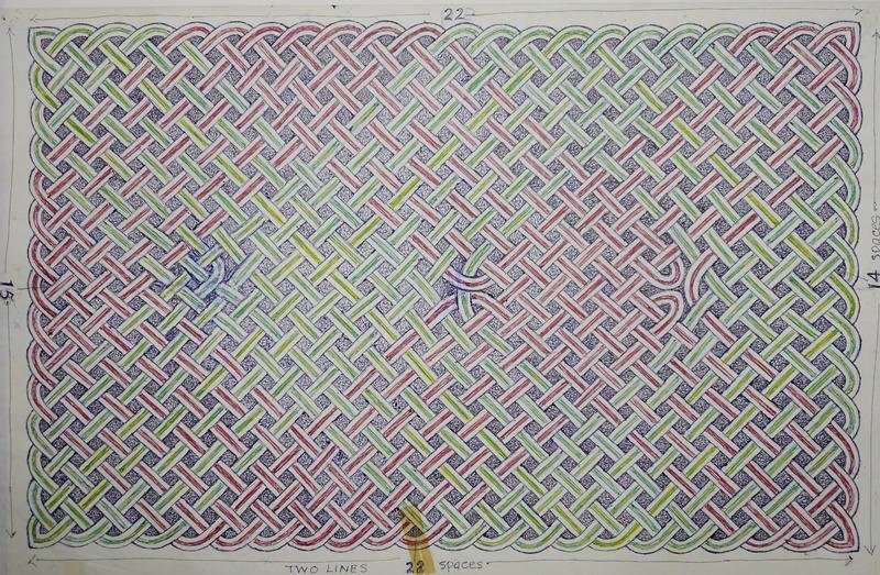 George Bain Drawing - Colour Panel.