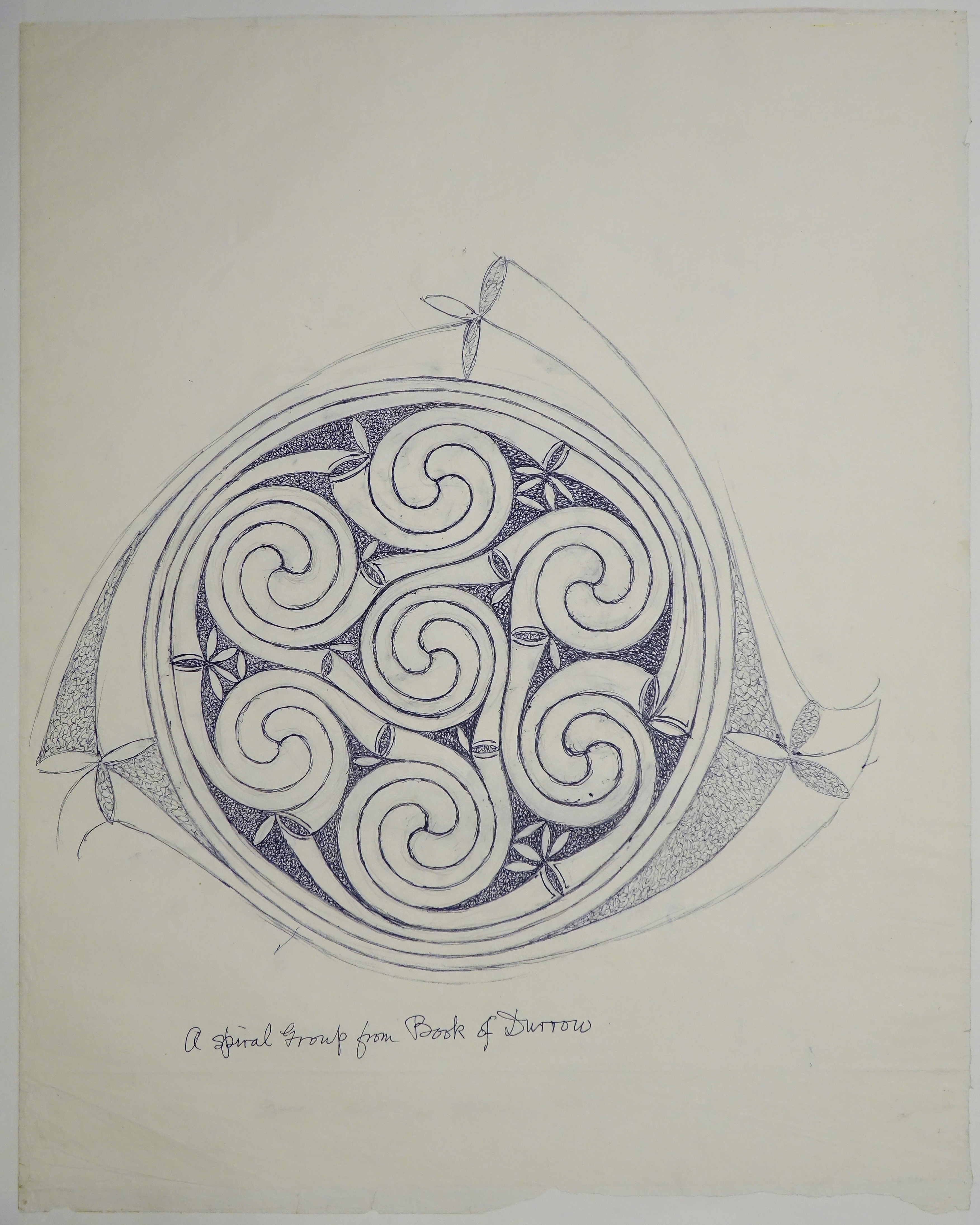 George Bain Drawing - A Spiral Group from Book of Durrow. · Open ...